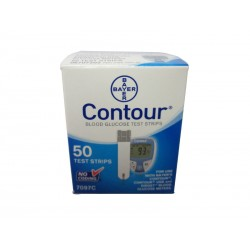 Bayer Contour NFRS Box of 50 Test Strips Expires October 2016