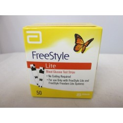 FreeStyle Lite Retail Box of 50 Test Strips Expires March 2016